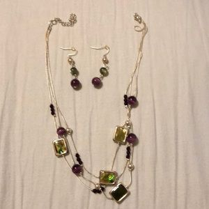Jewelry - Layered Necklace and Earrings